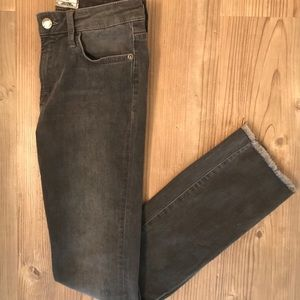 Free People Frayed Straight-leg Jeans